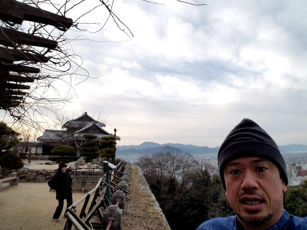 旅朝ラン。2018年一発目は松山城!